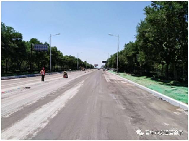 介休108国道等5条道路改造以及汽车综合客运站工程最新进展图片