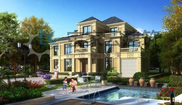 七室四厅三卫一露台一阳台,带阁楼,带露台,在农村建一幢这样的别墅,整