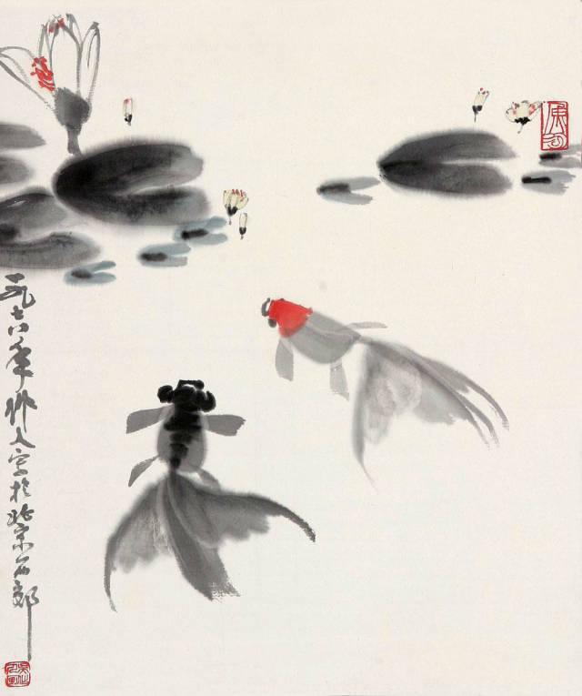 凡欣赏过他的金鱼国画的人,无不为他的画中神韵折服.图片