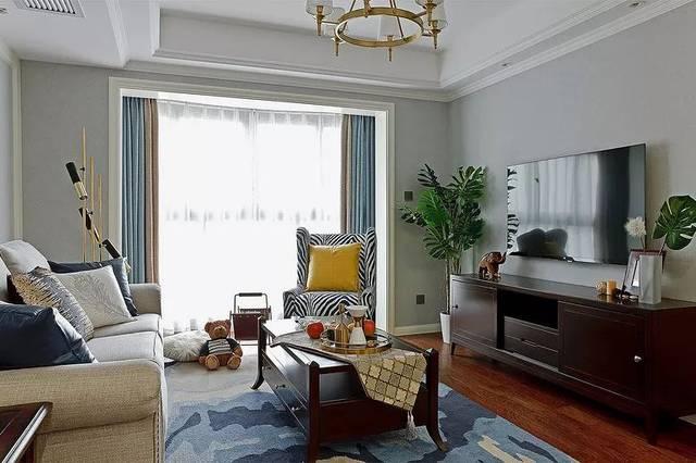 126m现代美式,轻奢华,新时尚的舒适氛围图片