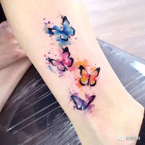 这里有最实用的,水彩蝴蝶纹身作品图片