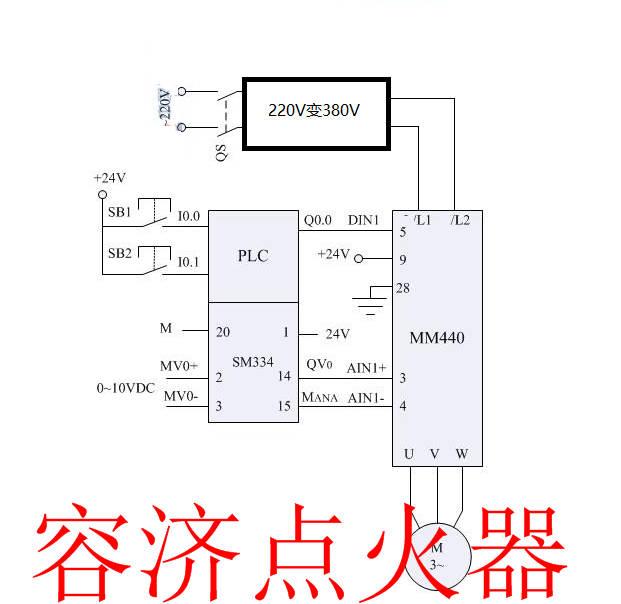 变频调速三相异步电动机能否用220伏电压,如何接线?