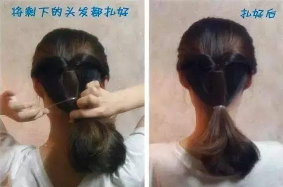 超美4款扎发,别管头发有多长,都扎起来吧图片