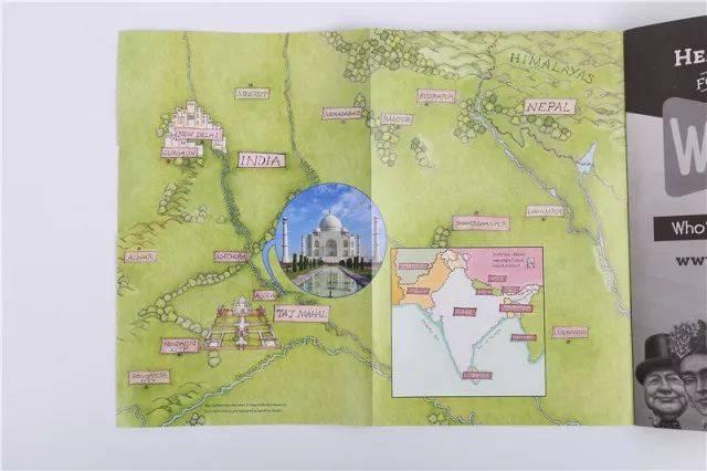 折叠彩绘地图,让小朋友摆脱地域的阻隔,仿佛身临其境.图片