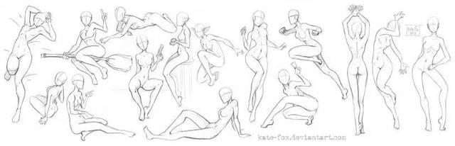 例如一般在画动漫人物的时候,成年人是七头身,坐姿为五个头高,蹲姿为