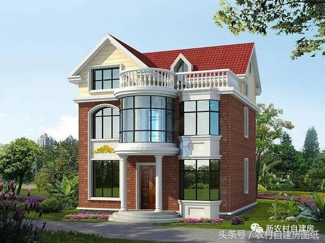 5款农村自建房图纸,70-80平的小户型别墅,最多不超过25万建一栋