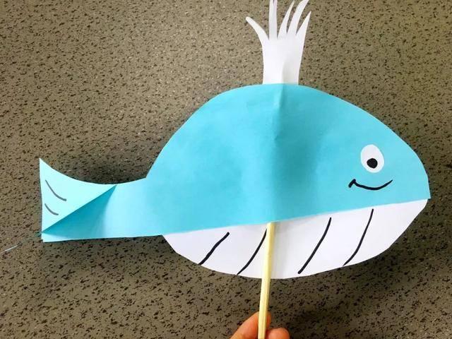 儿童手工制作:轻松搞定萌萌的小鲸鱼,圆孩子的海洋梦!