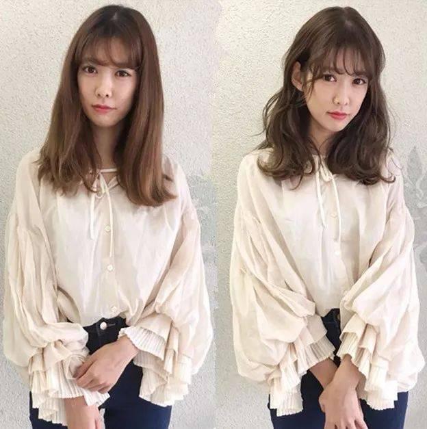 16位樱花妹直发变卷发前后对比,颜值不再被发型耽误!图片