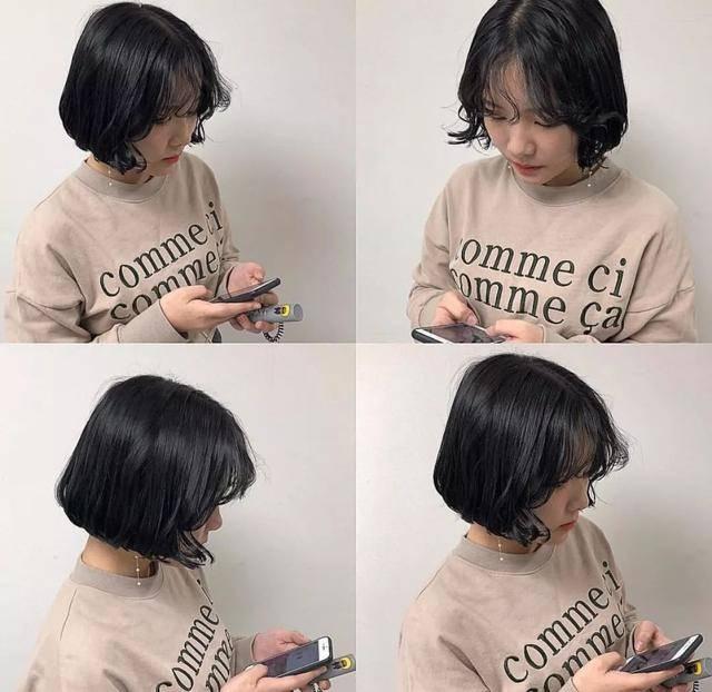 超短发,留长一丢丢的阶段性胜利,正在蓄长发的妹子可以参考一下发型图片