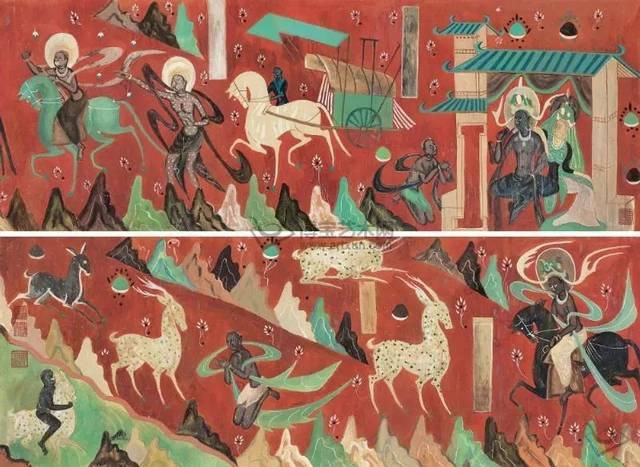 敦煌壁画中的《鹿王本生》图片