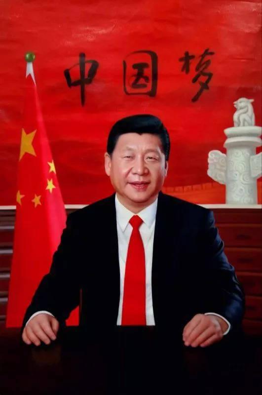 油画《中国梦·中国红》