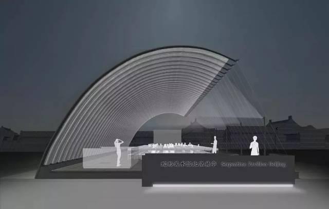 """模型效果图 蛇形画廊北京展亭的新闻稿中提到:""""尽管北京的现代建筑图片"""