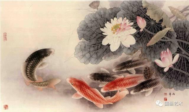 金鳞游水百态娇 路雨年工笔画鱼作品欣赏