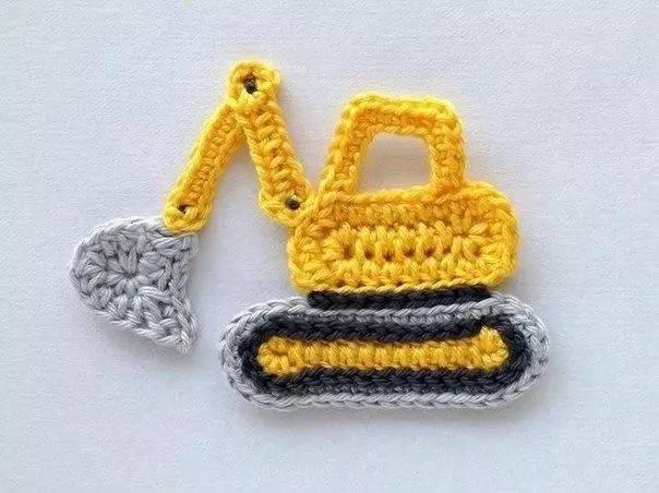 图解:各种好看的小汽车织片,男宝妈妈请抱走吧
