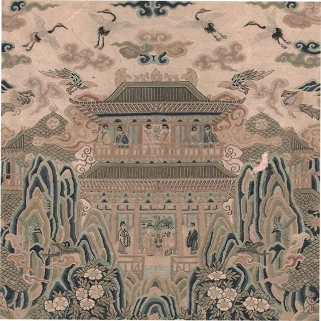 大酒大肉的囹�a_明 张鈇 陆深愿丰堂会仙山图 局部  这幅画儿画的是神仙的居所,那些