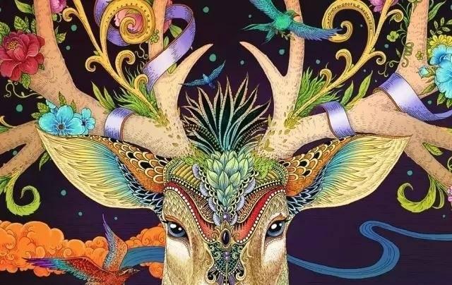 一组插画手绘四季之鹿,唯美华丽的浮世绘风格丨王氏教育集团