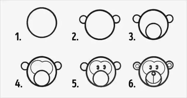 有趣的幾何簡筆畫教程!一個方,一個圓,小動物們變變變圖片