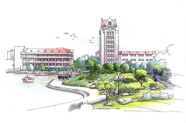 烟台大学手绘平面图