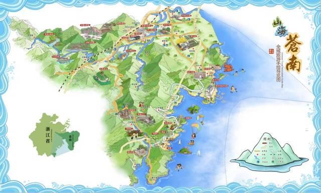 苍南全域旅游超萌手绘地图新鲜出炉啦!