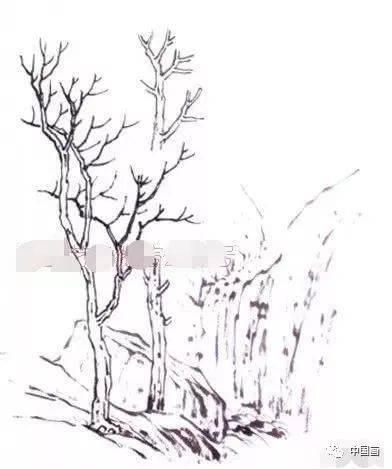 一般情况下画前后层次的树叶,除了在墨色浓淡上要有区分,最好在画法图片