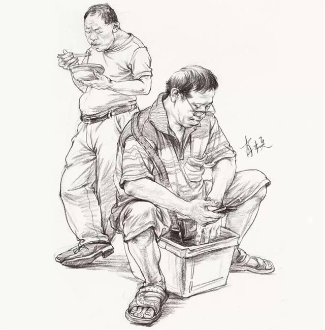 速写站坐蹲_2018暑假班 肖木兵速写报名详情