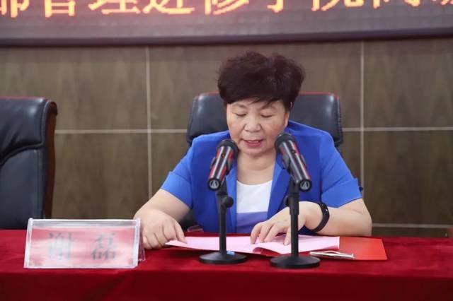 """永城市卫计委谢磊副主任致辞中说:""""首先对贺林老师和弘毅医院管理图片"""