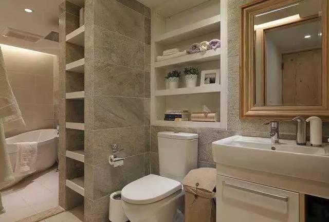 卧室角落或者墙面不太适合打柜子的地方,壁龛设计不失为一种比较省钱图片