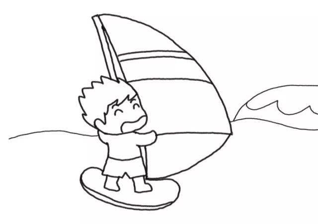 欢乐过假期 游轮简笔画