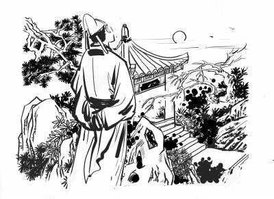 """唐代大诗人李白在《留别广陵诸公》诗中,留下了一个成语""""骑虎难下"""".图片"""