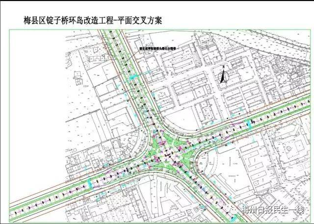 今年,梅州市政府终于动工 对梅县区新城区锭子桥圆盘 道路,排水,绿化图片