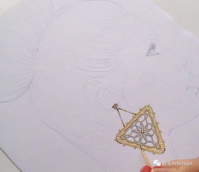 1000张珠珍首饰设计步儿子图/线稿/彩铅/水彩/斋描顺手绘斋材避免费顶付!