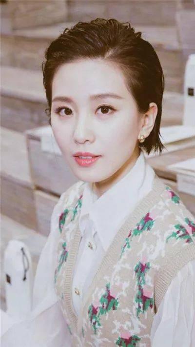 发型|学刘诗诗景甜来一款清爽短发吧图片