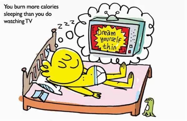 当你睡觉时,消耗的卡路里(热量)比看电视时还要高.图片