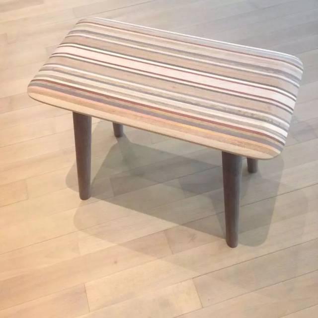 原木长条凳子设计
