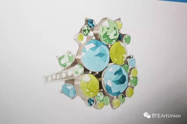 1000张珠宝首饰设计步骤图/线稿/彩铅/水彩/素描手绘素材免费领取!