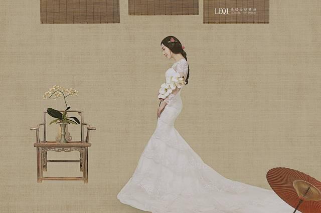 工笔画之中的人物画由来已久,工笔画在以前拍摄时,可能多以旗袍为主.