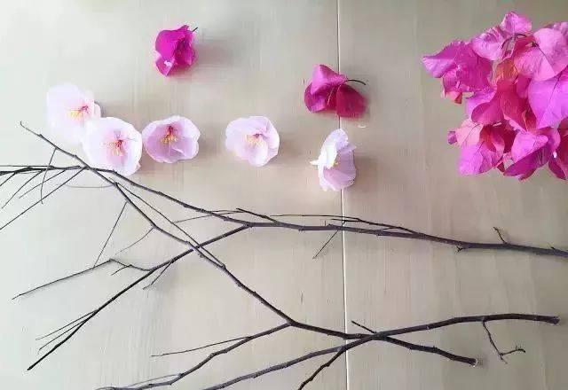 【创意手工】制作淡雅高贵的梅花手工,灯笼,装饰,头饰图片