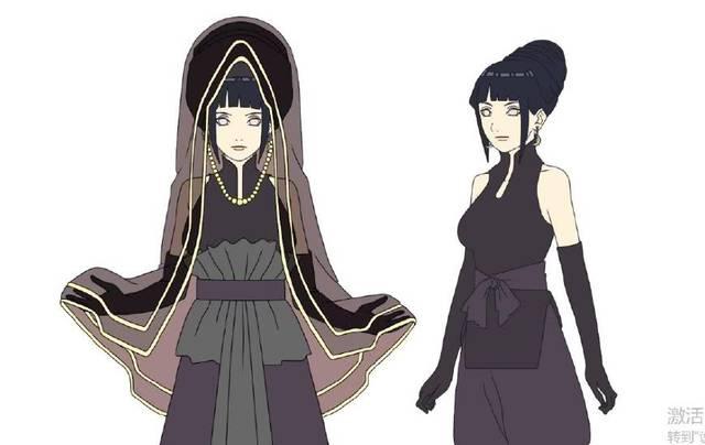 火影忍者中雏田成为太子妃以来的穿衣变化,怪不得鸣人
