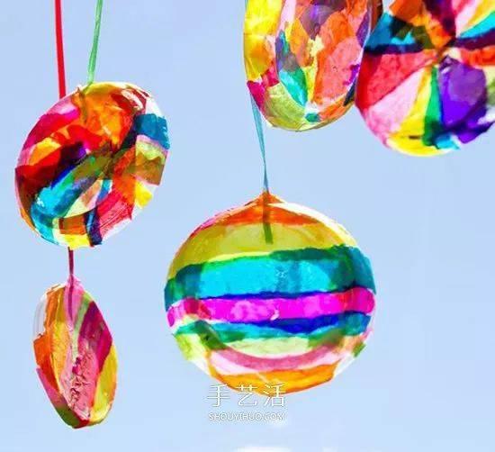 【创意手工】和孩子一起制作七色彩虹挂件,挂在小房间图片