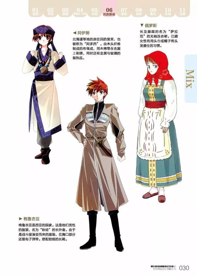 手绘素材-角色服装设计(一)