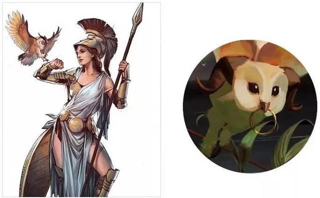 天上飞来一只的猫头鹰,在古代希腊与罗马,它是女神雅典娜(athena)侍从