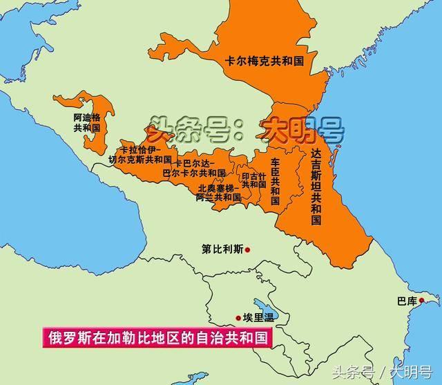 在车臣北方有一共和国名叫卡尔梅克共和国.