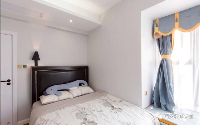 次卧空间浅灰色变色,拐角飘窗休闲设计图片