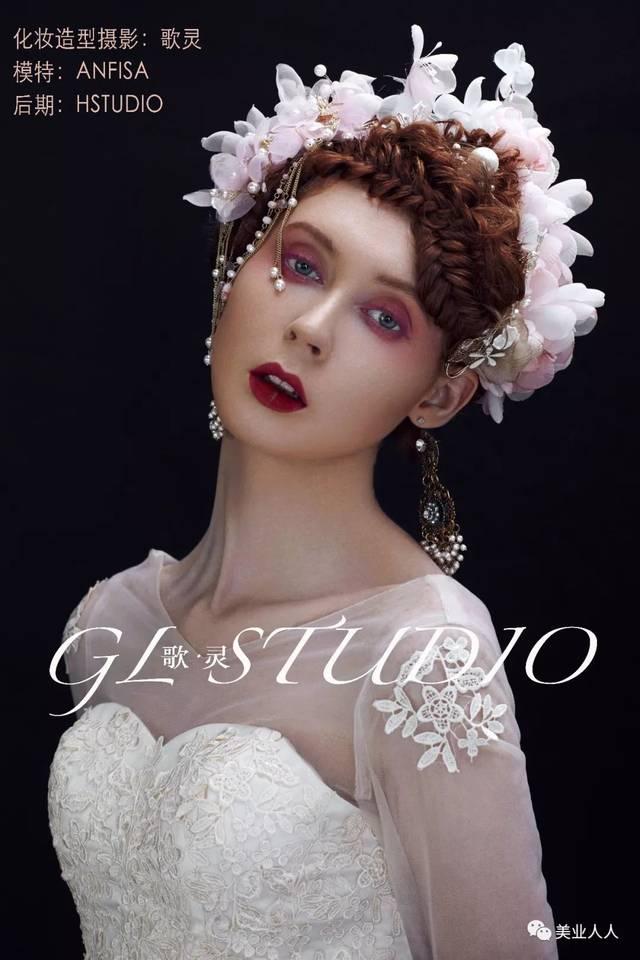 大气的复古巴洛克新娘造型 尽显女王范图片