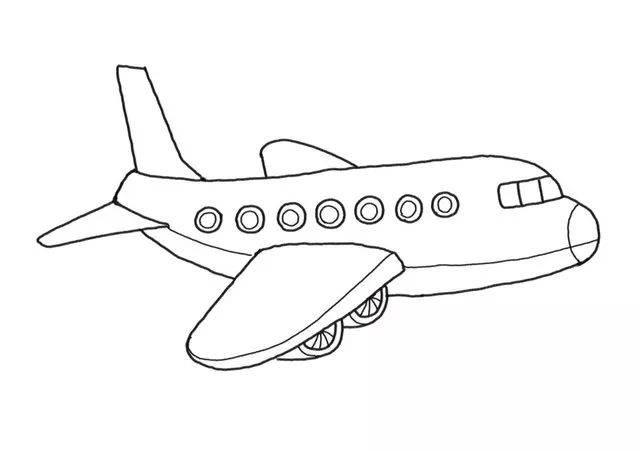 飛翔天空!簡單的飛機簡筆畫來啦