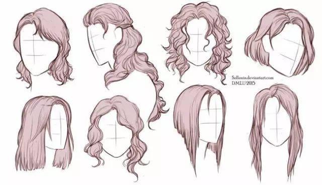 人物发型绘画参考