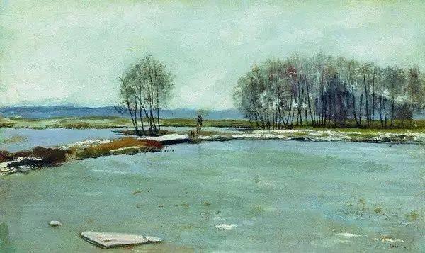 俄罗斯艺术大师列维坦油画风景作品图片