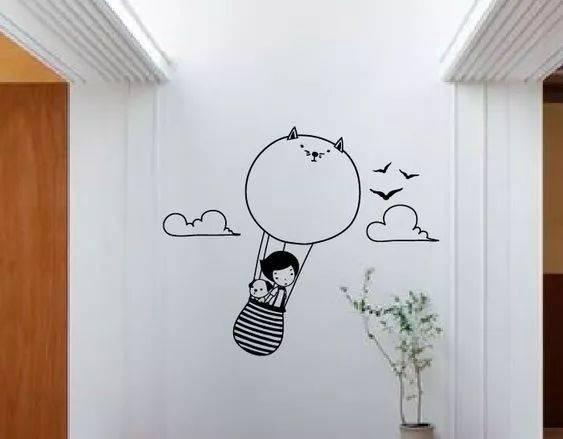 黑白创意墙绘图片大全