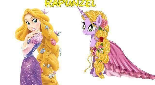 以小马宝莉的方式画迪士尼公主,白雪公主神还原,乐佩公主更美了