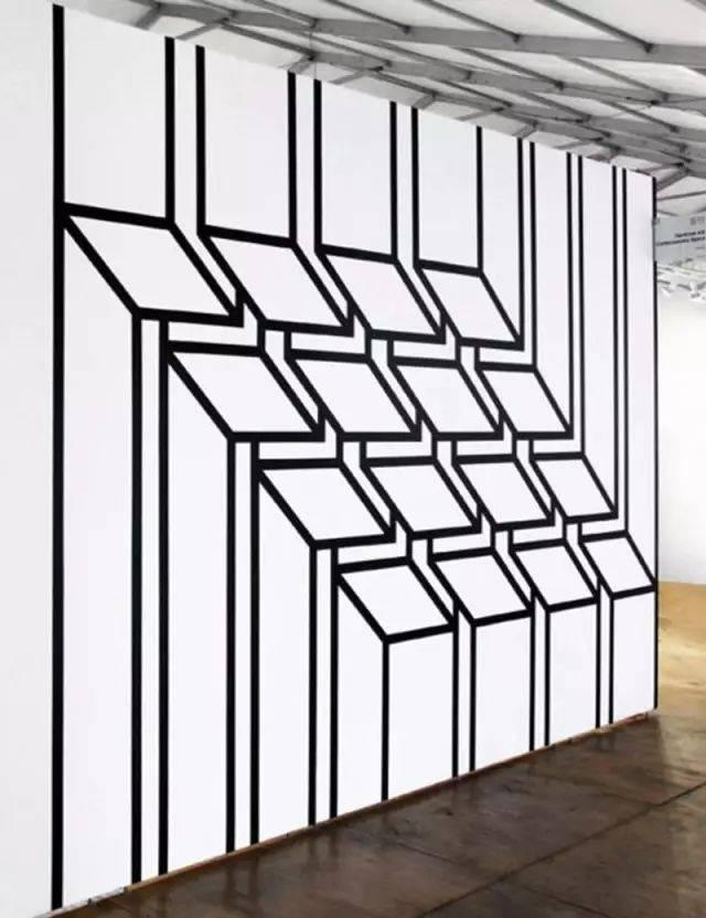 设计领域,二维与三维的视错觉大多基于图形的变形(大小,方向,位置等)图片